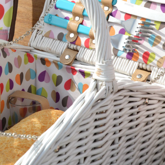 Confetti 4 Person Wicker Basket