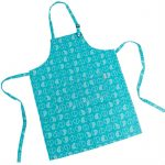 Teal Outline Apron