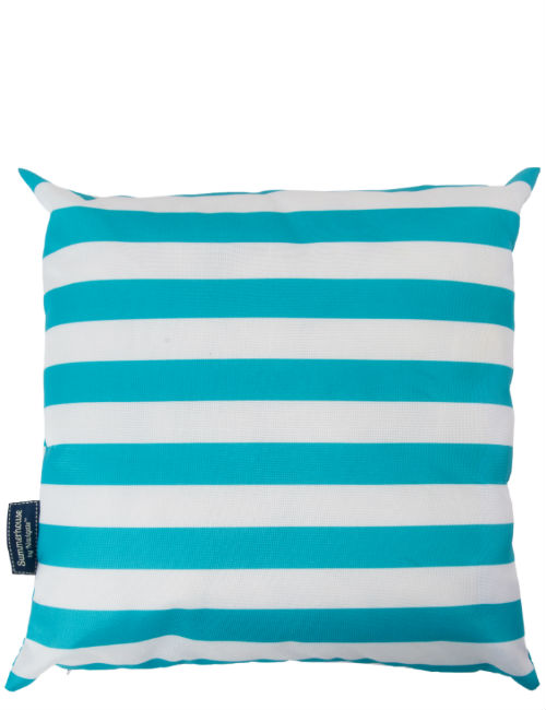 Aqua Striped Cushion