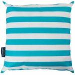 Aqua Striped Cushion