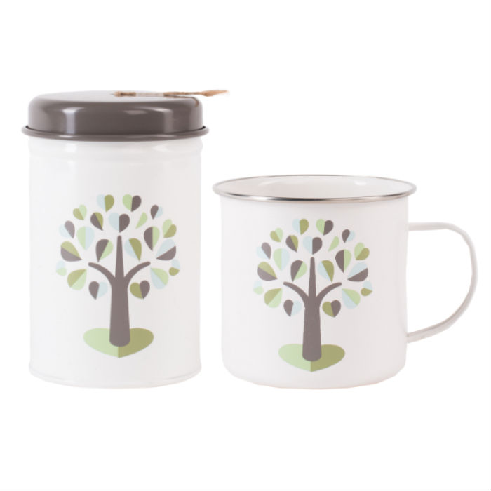 Orchard String in Tin Set & Enamel Mug