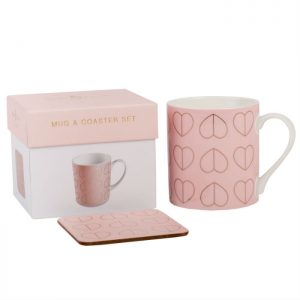 Blush Mug & Coaster Set in Gift Box