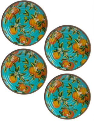 Seville Set of 4 Melamine Plates