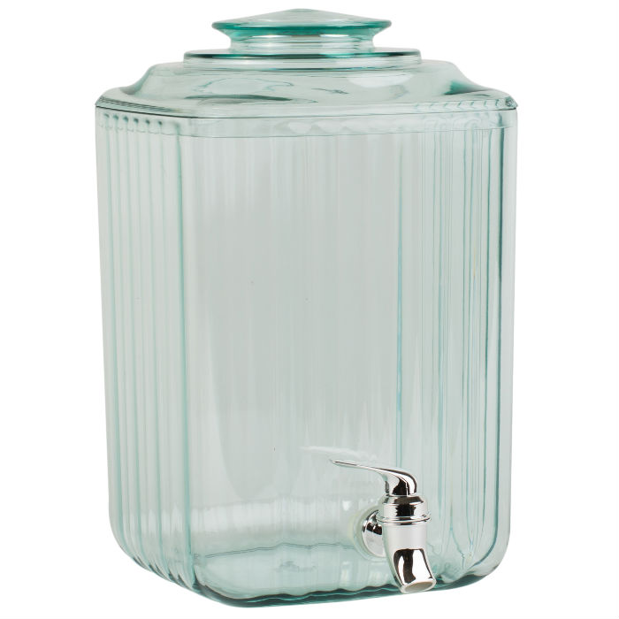 Recycled Glass Effect 7 Litres Drinks Dispenser