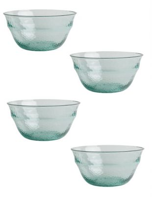 Recycled Glass Effect Set of 4 Dessert Bowls