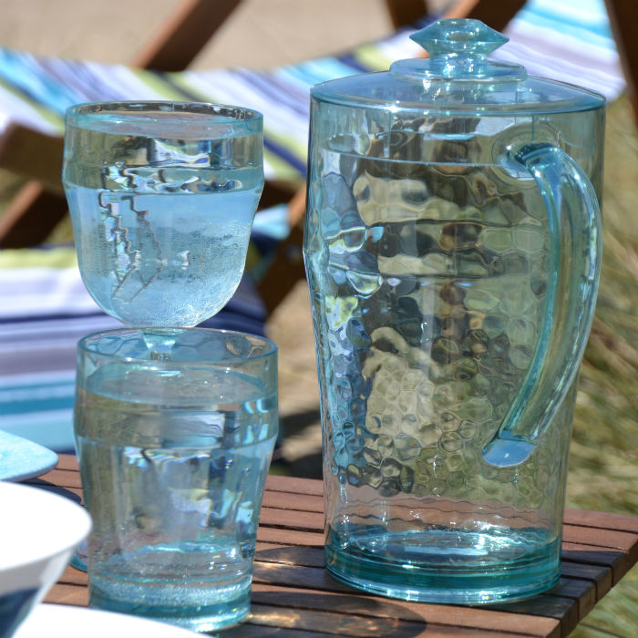 Recycled Glass Effect 2 Litre Pitcher