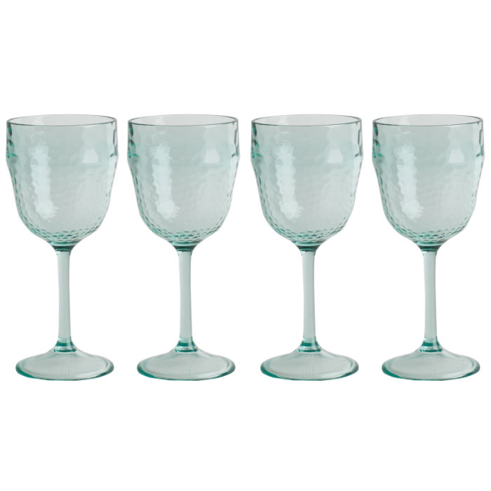 Recycled Glass Effect Set of 4 Wine Glasses