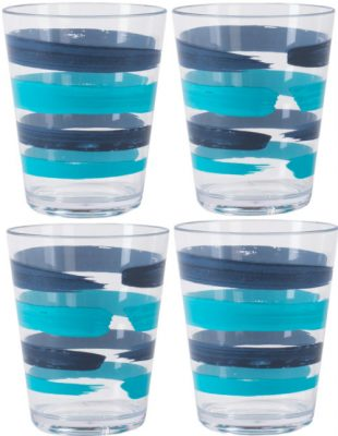 Patterned Tumblers Set of 4
