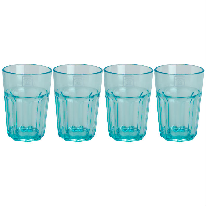 Aqua Soda Tumblers Set of 4