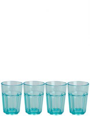 Aqua Soda Tumblers Set of 4