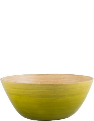 Lime Ombre Bamboo Salad Bowl