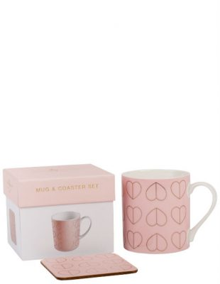 Blush Mug Coaster Set in Gift Box
