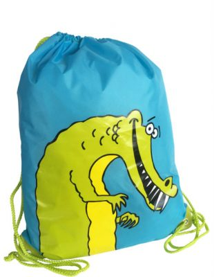 Crocodile Drawstring Bag