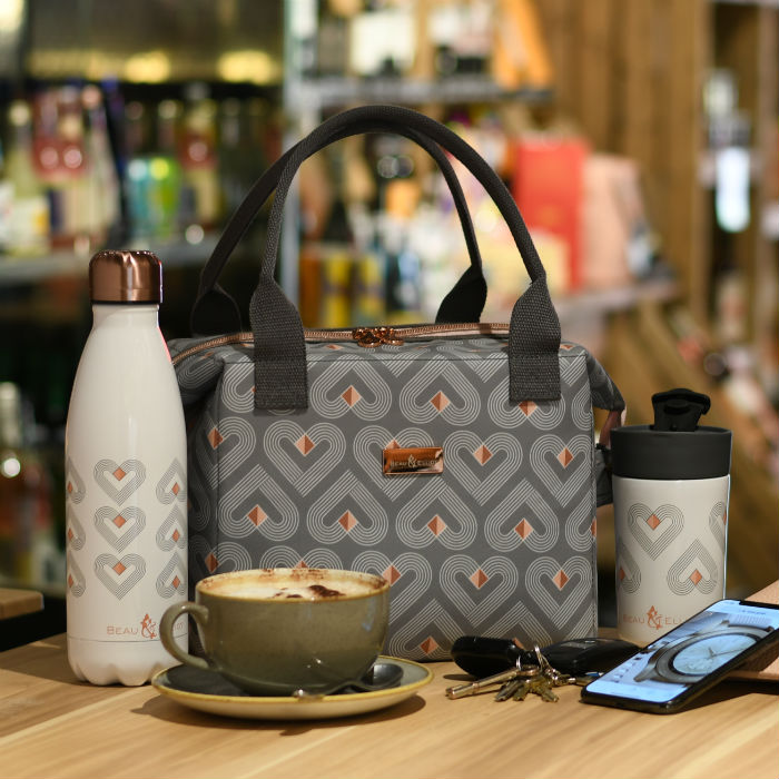 VIBE Grey Convertible Lunch Bag