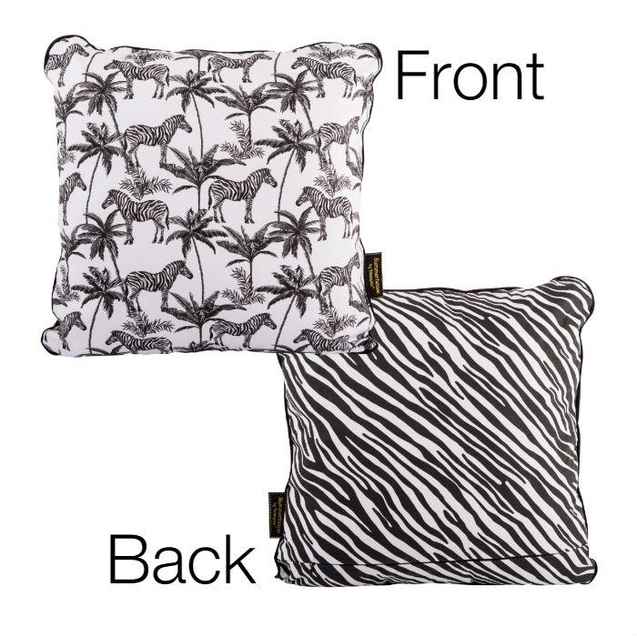 Cotton Cushion Zebra