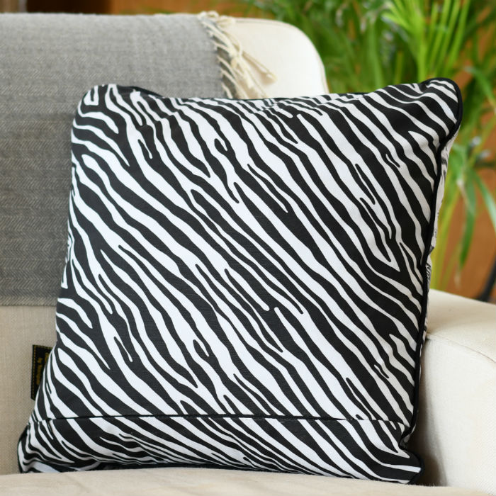 Cotton Cushion Zebra