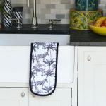 Double Oven Gloves Zebra