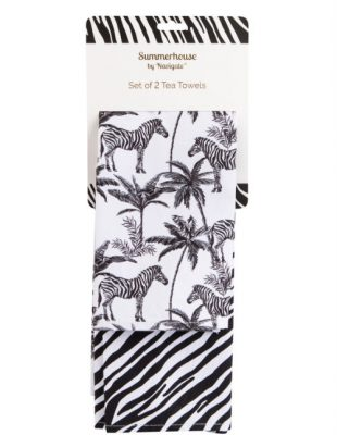 Madagascar Twin Pack of Tea Towels