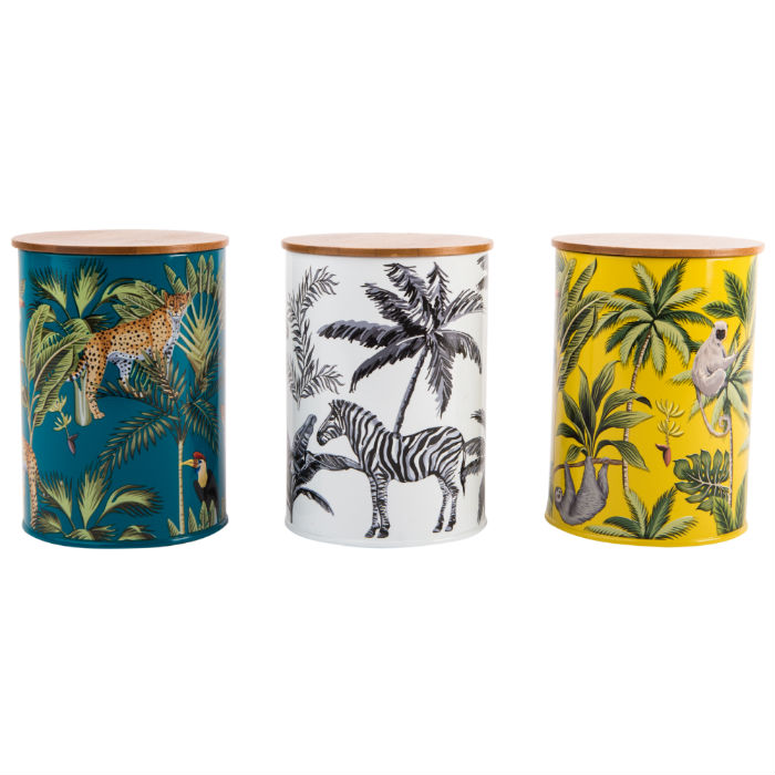Madagscar Canisters Set of 3