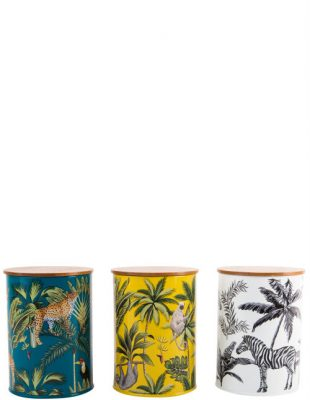 Madagascar Canisters Set of 3 storage tins