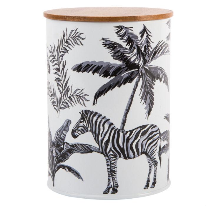 Madagascar Zebra Repeat Canister