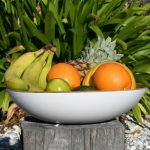 White Fruit Bowl from Madagascar Range