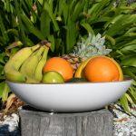 White Fruit Bowl from Madagascar Range