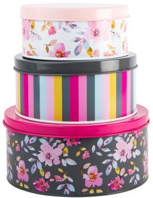 Gardenia Trio of Nesting Tins