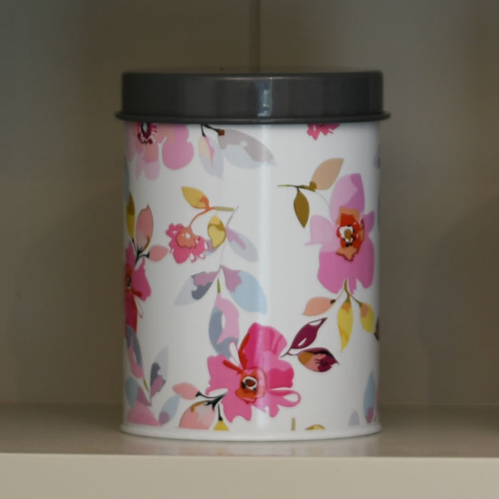 Gardenia White Floral Canister