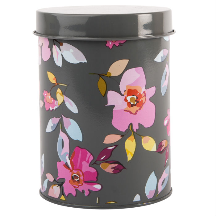Gardenia Grey Floral Canister