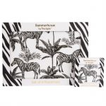 Zebra Placemat Set of 4 & Coasters