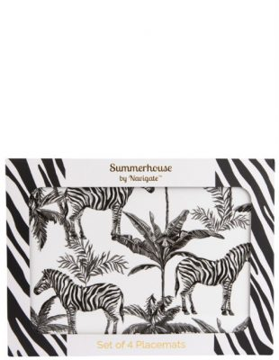Zebra Placemat Set of 4