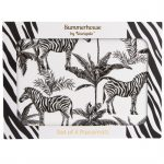 Zebra Placemat Set of 4 in gift box