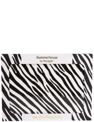 Zebra Stripe Placemat Set of 4