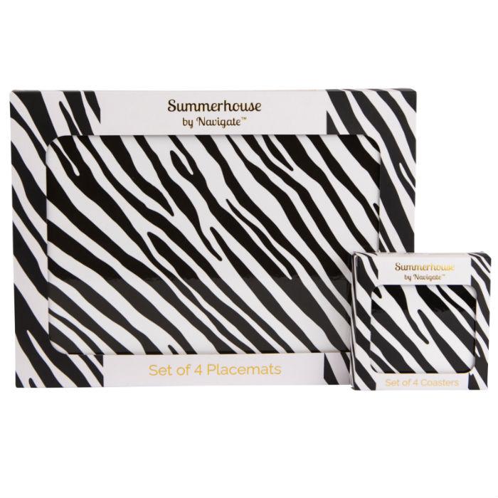 Zebra Stripe Placemat Set of 4