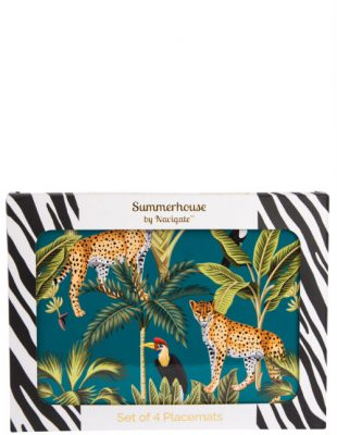 Cheetah Stripe Placemats Set of 4