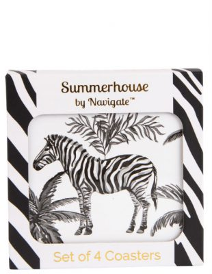 Zebra Coasters Set of 4