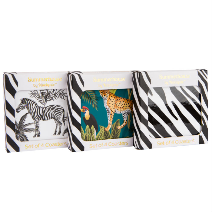 Madagascar Coasters Set of 4