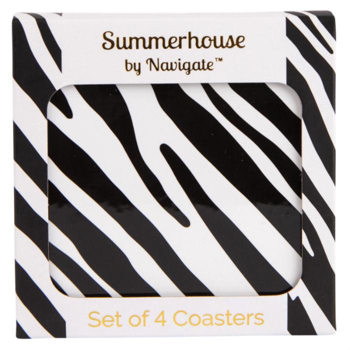 Zebra Stripe Coasters Set of 4
