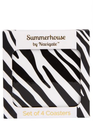 Zebra Stripe Coasters Set of 4
