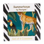 Cheetah Coasters Set of 4