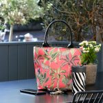 Lunch Tote Cheetah Coral