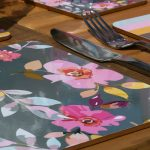 Gardenia Grey Floral Set of 4 Placemats