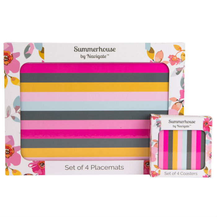 Gardenia Stripe Set of 4 Placemats