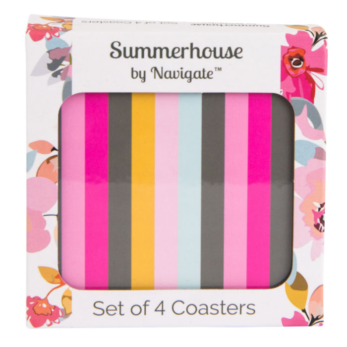Stripe Coasters Set of 4