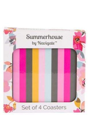 Stripe Coasters Set of 4