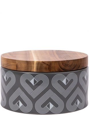 Vibe Slate Large Round Storage Jar