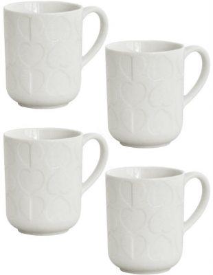 Beau & Elliot Embossed Mug - Set of 4