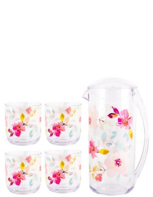 Gardenia 2L Pitcher & Set of 4 Tumblers