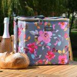 Gardenia Family Cool Bag Grey Floral